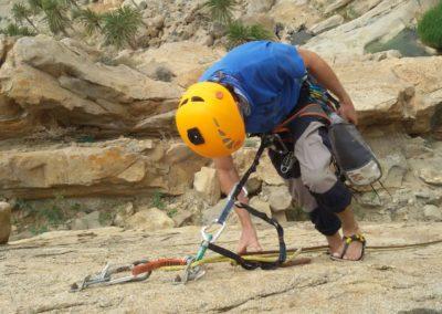 Galacho en Barrando de las peñitas (Fuerteventura) con Hommo Sandals